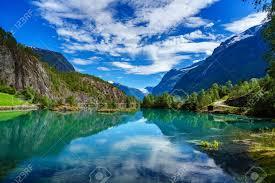 美しい自然のノルウェーの自然風景です。 の写真素材・画像素材 Image ...
