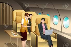 ファースト ・ クラスの乗客乗務員によって提供のベクトル イラストの ...