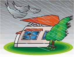 台風で飛ばされそうな家のイラスト | コピペできる無料イラスト素材展