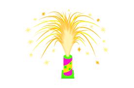 置き型花火のイラスト | イラスト本舗
