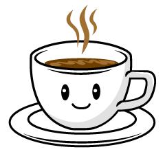 かわいいコーヒーの無料キャラクターイラスト素材集|IllustCute