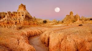 砂漠の波形アート!オーストラリア世界遺産・ウィランドラ湖群地域の ...