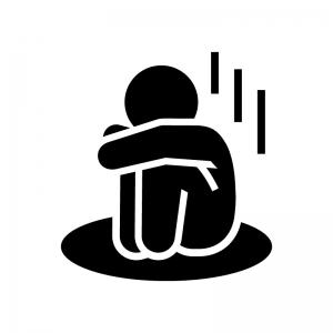 落胆・寂しい・悲しい人のシルエット | 無料のAi・PNG白黒シルエット ...