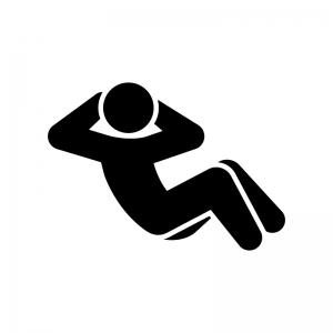 腹筋運動のシルエット | 無料のAi・PNG白黒シルエットイラスト