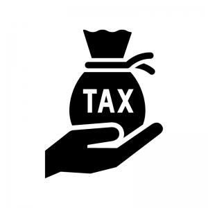 税金のシルエット03 | 無料のAi・PNG白黒シルエットイラスト