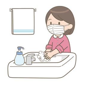 マスクを装着した女の子が手洗いをしているイラスト🎨【フリー素材 ...