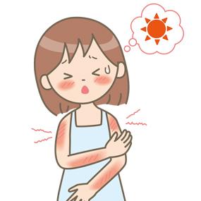 日焼けをした女性のイラスト🎨【フリー素材】 看護roo![カンゴルー]