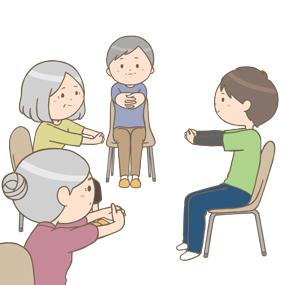 高齢者さんの介護予防体操教室のイラスト🎨【フリー素材】 看護roo ...