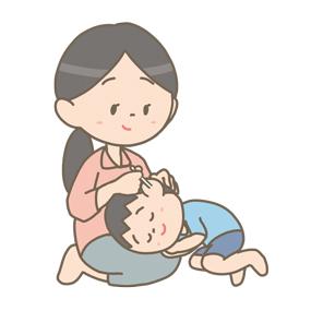 耳掃除をしている母親のイラスト🎨【フリー素材】|看護roo![カンゴルー]