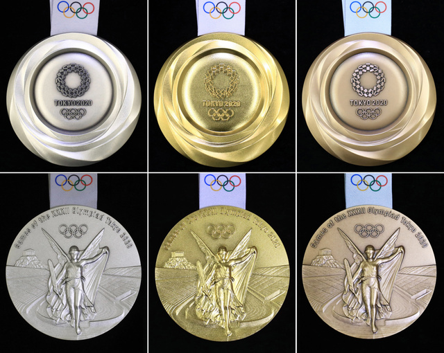 五輪のメダル、デザインを発表 輝くエネルギー様々に - 東京 ...