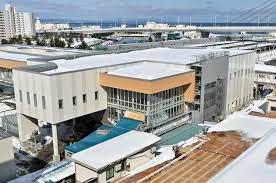青森駅の新駅舎と自由通路、徐々に外観現す|交通|青森ニュース|Web東奥