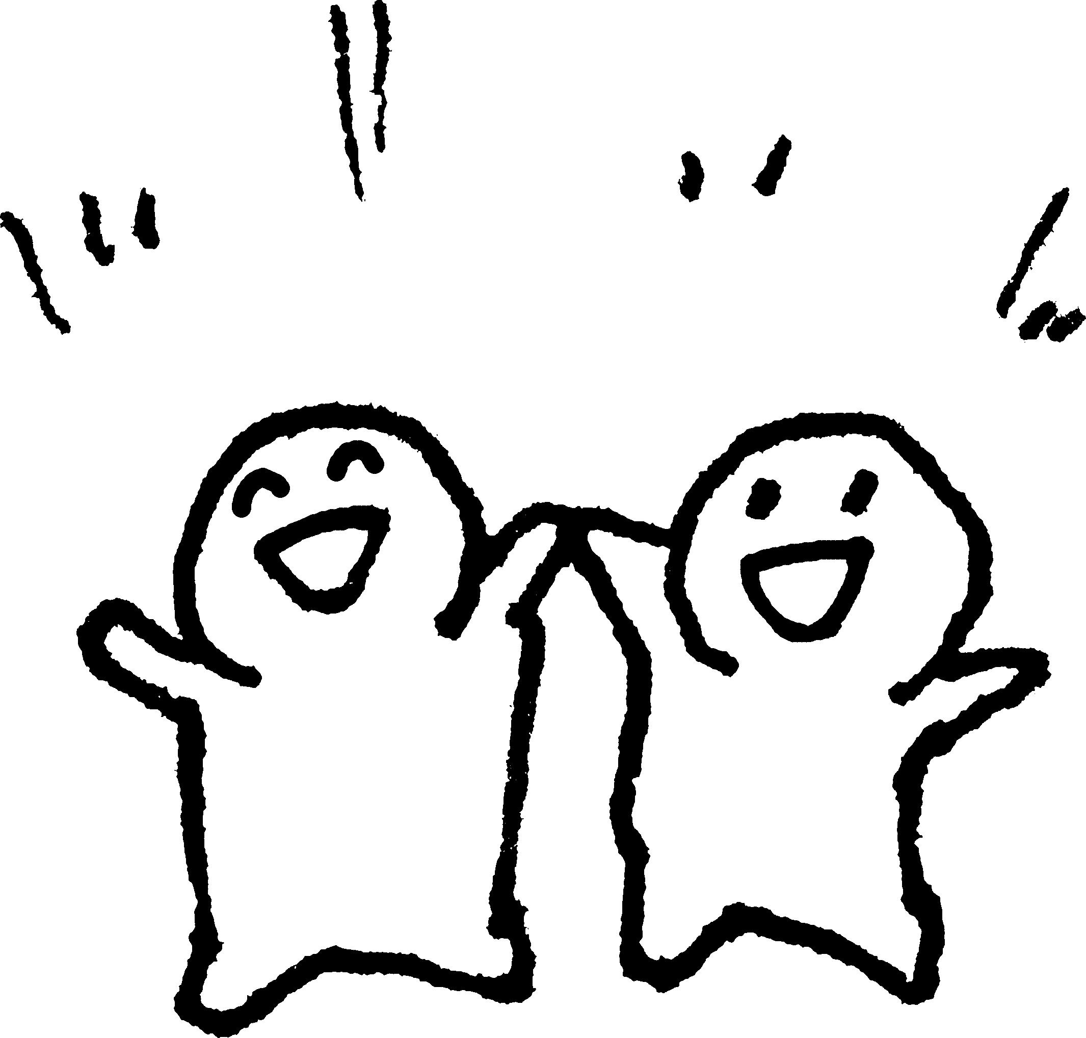 二人でバンザイのイラスト (Arms up) – 【てがきですのβ】かわいい ...