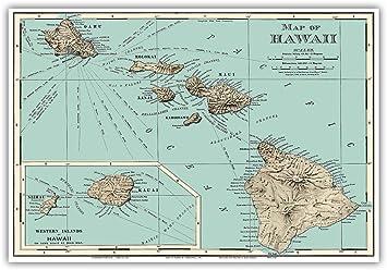 Amazon.co.jp: ハワイの地図 - ランドマクナリーアトラスより ...