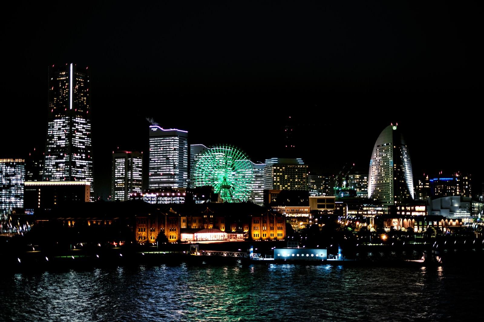 横浜みなとみらいの夜景の写真(画像)を無料ダウンロード - フリー ...
