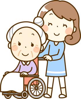 訪問介護 シルエット イラストの無料ダウンロードサイト「シルエットAC」