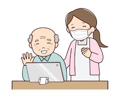 オンライン面会 おばあさんイラスト - No: 2029974/無料イラストなら ...