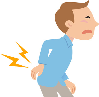 腰痛|シルエット イラストの無料ダウンロードサイト「シルエットAC」