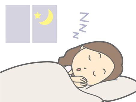 睡眠|シルエット イラストの無料ダウンロードサイト「シルエットAC」