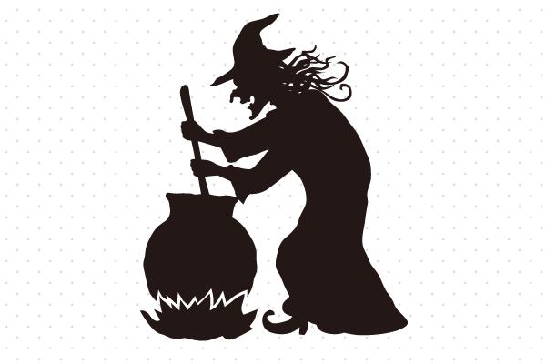 薬を調合する魔女のシルエット – EVENTs Design