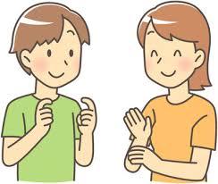 手話|シルエット イラストの無料ダウンロードサイト「シルエットAC」