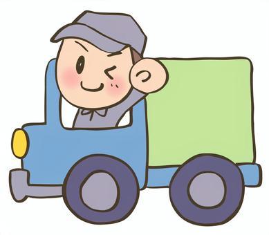 トラック運転手イラスト/無料イラストなら「イラストAC」
