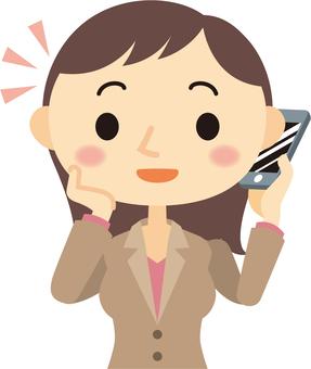 電話をする女性イラスト/無料イラストなら「イラストAC」