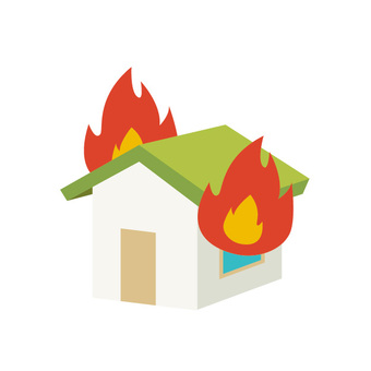 火災保険イラスト/無料イラストなら「イラストAC」