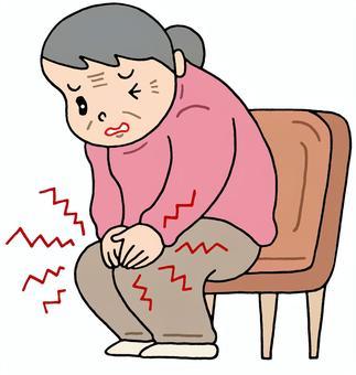変形性膝関節症イラスト/無料イラストなら「イラストAC」