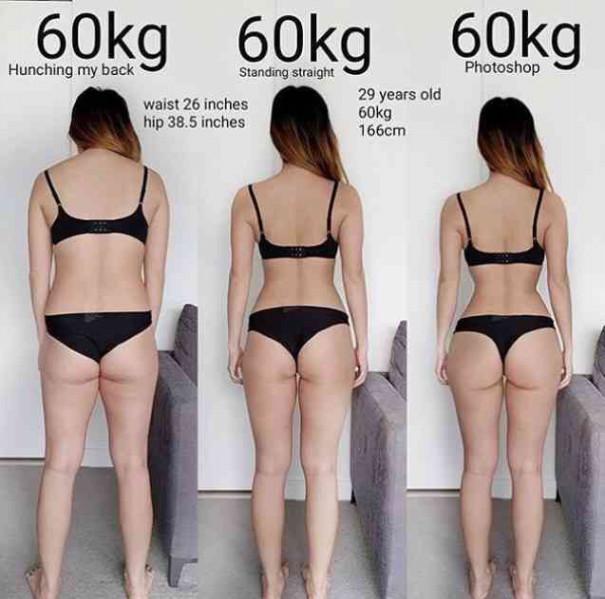 体重は同じでも体脂肪率が違うとこうなる【画像で証明!】   心理学で ...