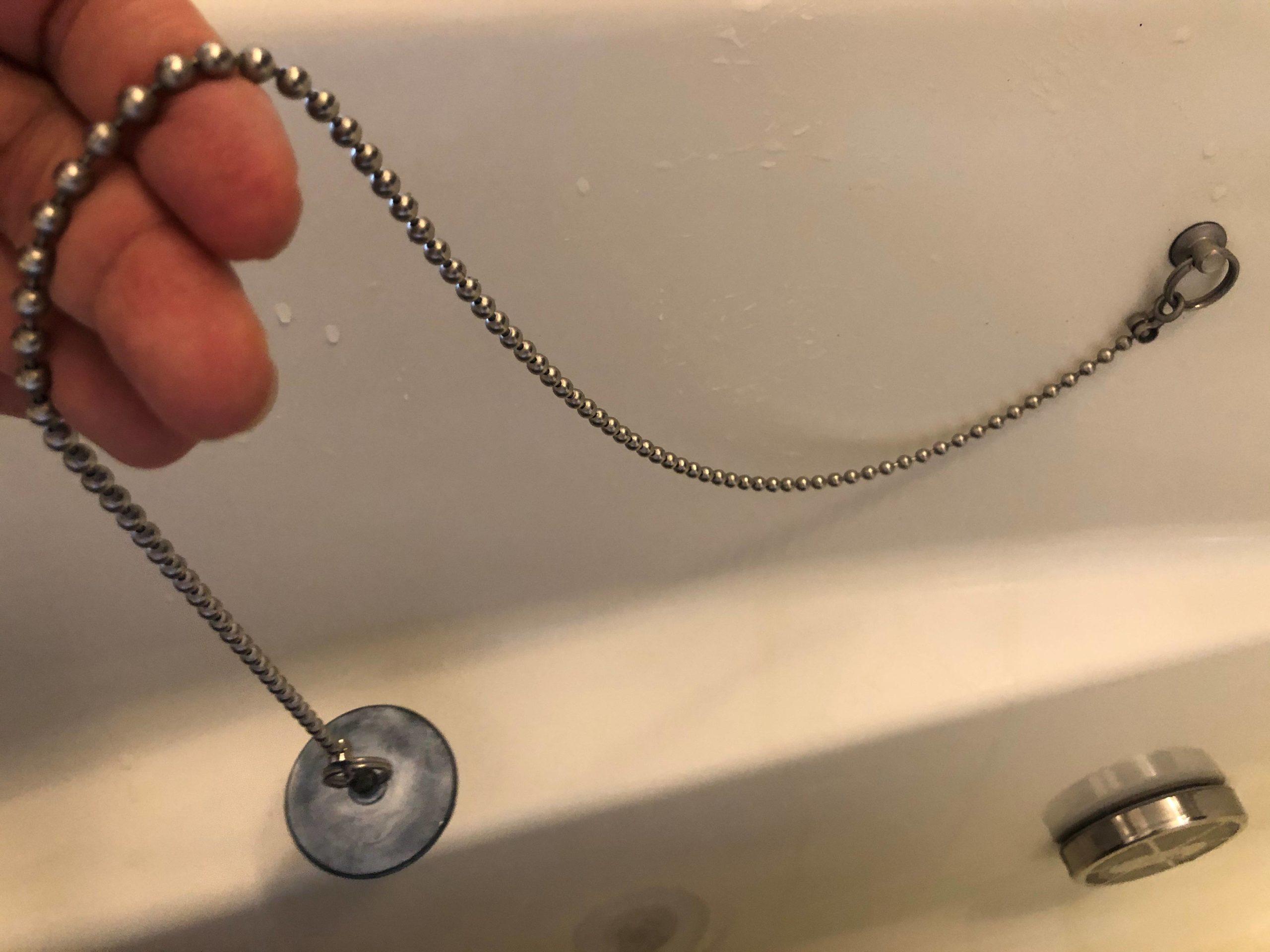 簡単】お風呂のゴム栓やチェーンをDIYで交換する方法 サイズは ...
