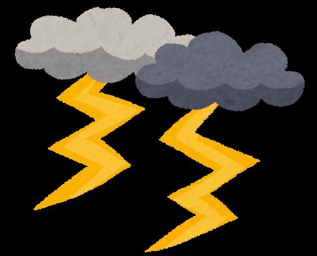 雷・雷雲のイラスト(自然災害) | かわいいフリー素材集 いらすとや