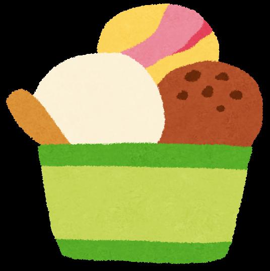 カップアイスクリームのイラスト | かわいいフリー素材集 いらすとや