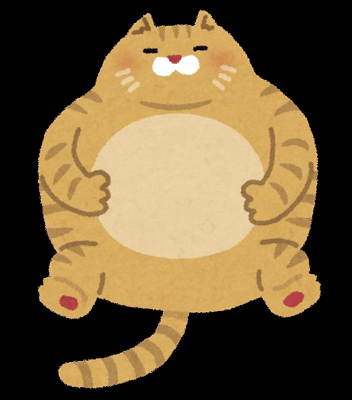 太った猫のイラスト | かわいいフリー素材集 いらすとや