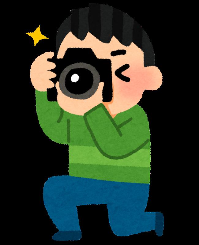 カメラで撮影をしている人のイラスト   かわいいフリー素材集 いらすとや