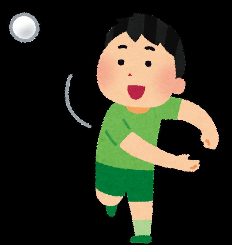 ボールを投げる男の子のイラスト | かわいいフリー素材集 いらすとや