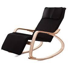 Amazon|SAKEY ロッキングチェア リラックスチェア 揺れ椅子 5段階調節 ...