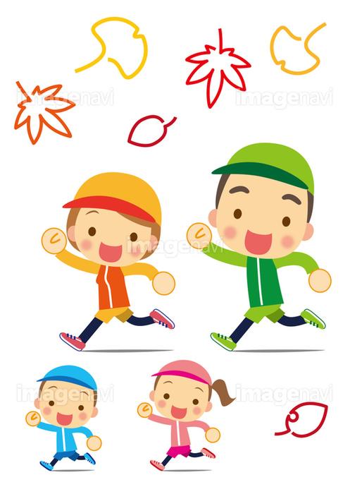 スポーツの秋 楽しくジョギング】の画像素材(31169524) | イラスト素材 ...