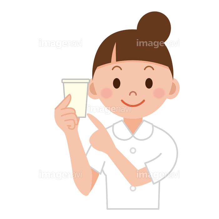 検尿の紙コップを持つナース】の画像素材(40522291) | イラスト素材 ...
