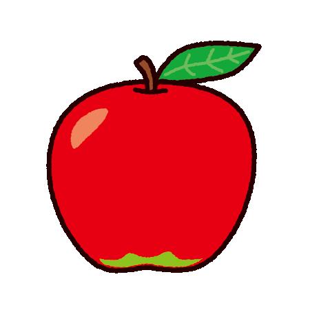 りんごのイラスト | イラストくん