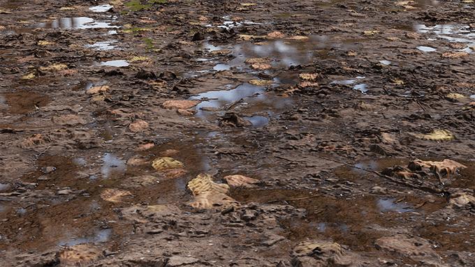 REAL PUDDLES」Blenderで地面にリアルな水たまりを作れる有料ノード ...