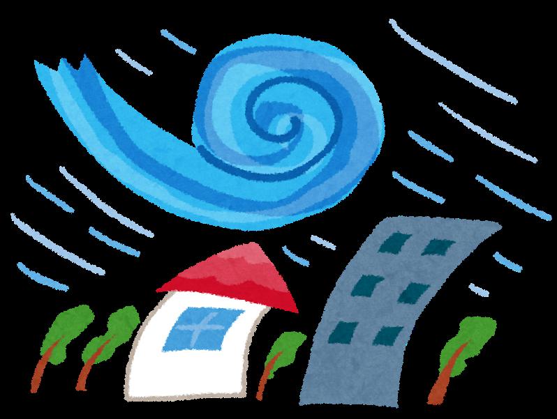 台風のイラスト(自然災害)   かわいいフリー素材集 いらすとや