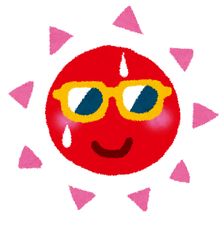 夏のイラスト「サングラスの太陽」 | かわいいフリー素材集 いらすとや