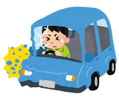 車の交通事故のイラスト(男性) | かわいいフリー素材集 いらすとや