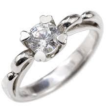 婚約指輪 プラチナリング ダイヤモンド ハート エンゲージリング ...
