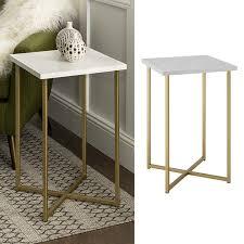 最安 サイドテーブル 大理石柄 シンプルでグラムなデザイン Gold/W ...