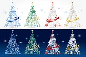 オシャレなクリスマスツリーのイラスト【無料・商用フリー】 | じゃ ...