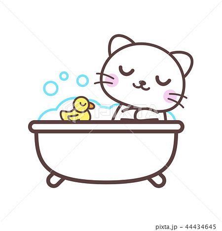入浴中のネコのイラスト素材 [44434645] - PIXTA