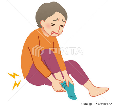 股関節痛 高齢者のイラスト素材 [56940472] - PIXTA
