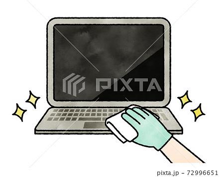 パソコンキーボードの掃除や除菌-水彩のイラスト素材 [72996651] - PIXTA