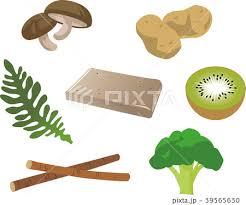 食物繊維の多い食品のイラスト素材 [39565630] - PIXTA